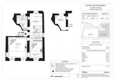 Appartement Versailles 3 pièces 74 m²