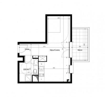 Appartement studio 1 pièce + balcon + parking
