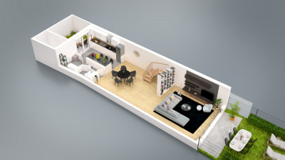 Appartement 5 piècesen triplex comme une maison