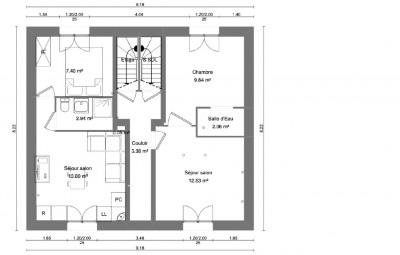 Appartement Conflans Sainte Honorine 2 pièce(s) 24.53 m2