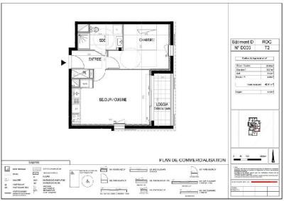 Appartement neuf T2 cesson sevigne - 42.81 m²