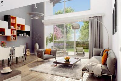 Duplex 4 pièces, rez-de-jardin, jardin, park