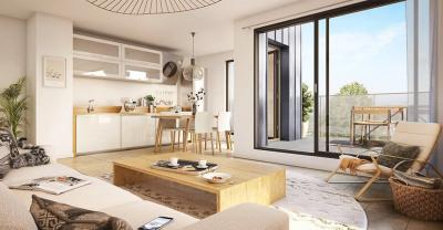 Appt 5 pièces avec balcon de 12 m² et une terrasse de 16,85