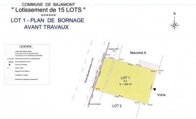 Terrain à bâtir - 523 m²