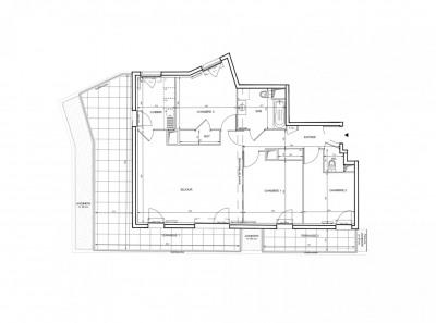 Appartement 4 pièces de 84 m² + terrasse + 2 parkings