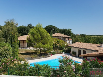 Secteur rouffiac spacieuse villa avec piscine 5x12