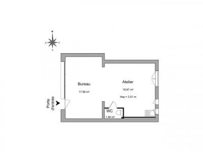 Locaux commerciaux 39,43 m²