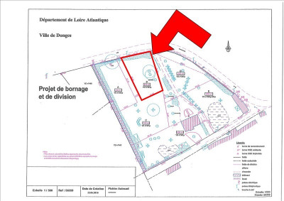 Terrain constructible donges - 670 m²