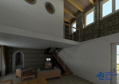 MERLRAND, Maison en pierres à finir de rénover