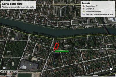 Terrain constructible de 406 m² en Bord de Marne