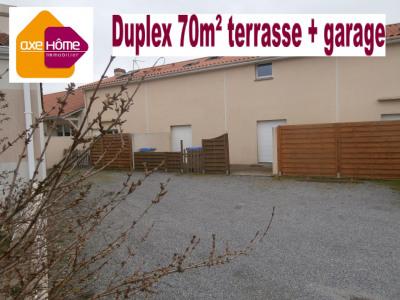 Appartement 65m² en duplex avec terrasse + garage