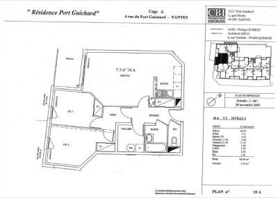 Appartement Nantes 3 pièce (s) 63 m²