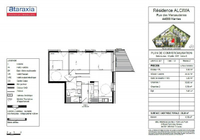 Appartement Nantes 3 pièce (s) 58 m²