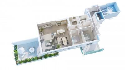 Appartement F3 de standing à agen centre avec terrasse - gar