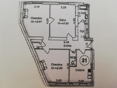 Appartement Paris 3 pièce (s) 70.1 m²