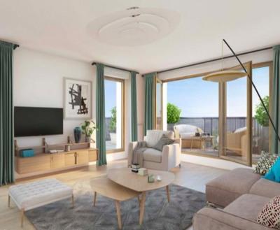 Superbe 4 pièces de 88 m² avec 1balcon dans résidence de standin