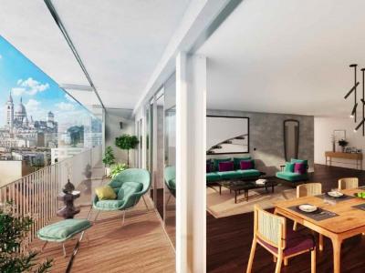 Appartement 5 pièces avec toit terrasse vue Sacré coeur