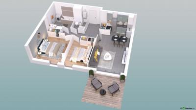 T3 de 65 m² en rez-de-chaussée