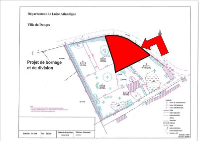 Terrain constructible donges - 1054 m²
