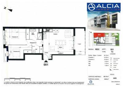T3 talence - 3 pièce (s) - 66 m²