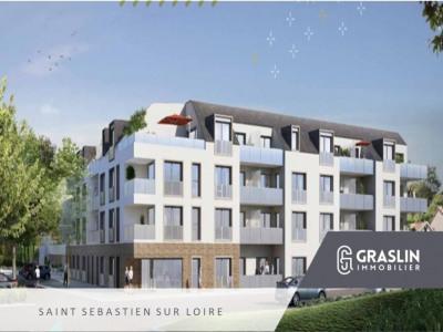 Saint Sébastien sur loire T3 résidence neuve balcon et parking