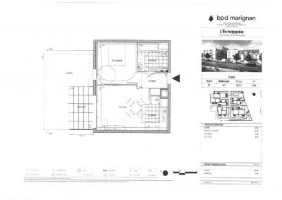 Appartement T2 avec parking terrasse et jardin