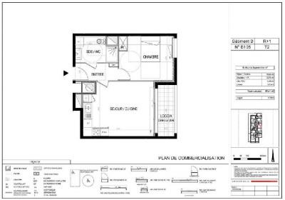 Appartement T2 NEUF - 2ème étage - 41.41 m²
