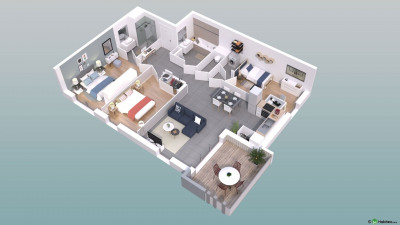 T4 de 79 m² au 1er étage