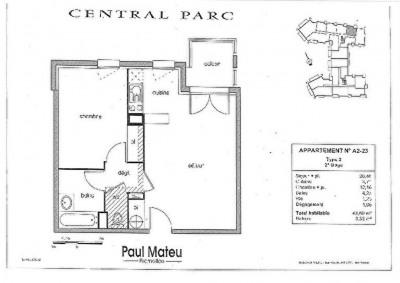 Appartement Colomiers 2 pièce (s) 42.83 m²