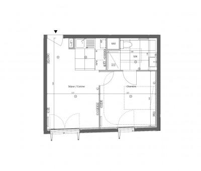 Appartement 2 pièces de 35m² + parking