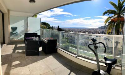 Appartement Nice 3 pièces vue mer et terrasse