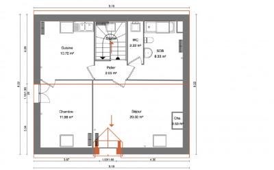 Appartement Conflans Sainte Honorine 3 pièce(s) 55.85 m2