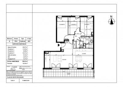 Appartement T4 89 m²