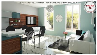 Appartement récent tonnerre - 2 pièce (s) - 37.88 m²