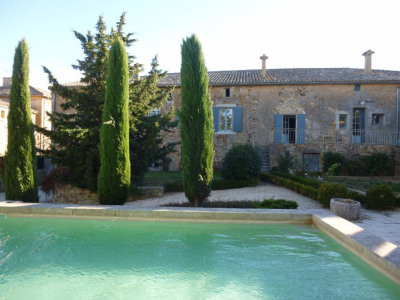 NEAR UZES - BASTIDE WITH SWIMMING POOL