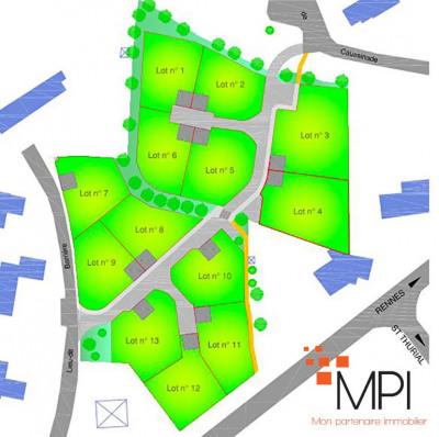 Terrain 441 m² St Thurial