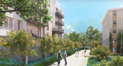 Appartement T4 avec balcon à Villeurbanne