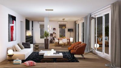 3 pièces 64m² balcon 5m² -