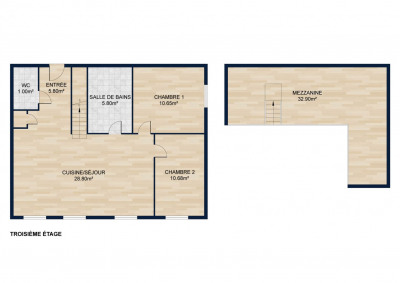 New / Exclusivity. Canuts of 103 m2 useful (63m2 in Carrez l