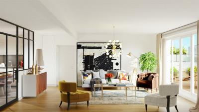 4 pièces 105m² avec Terrasse et Jardinière 52m²