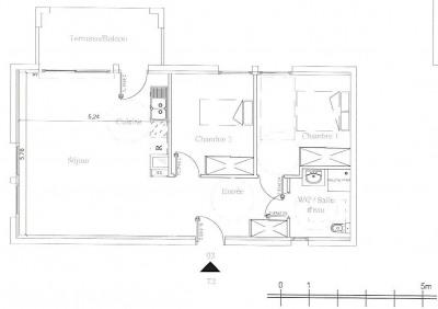 Appartement T3 - Parking - Terrasse