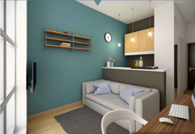 Studio meublé 13 m²
