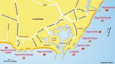 34300 Cap d'Agde -Studio 26 m² - loggia-parking-cellier