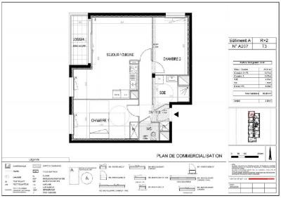 Appartement T3 NEUF -Cesson-sevigne - 63.09 m²