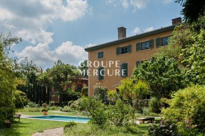 Lyon - ecully - belle demeure 470 m² - 8 chambres - parc de