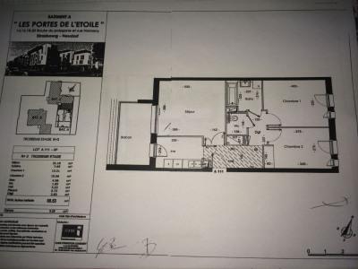 3 pièces de 68,53 m² Neudorf avec garage et balcon