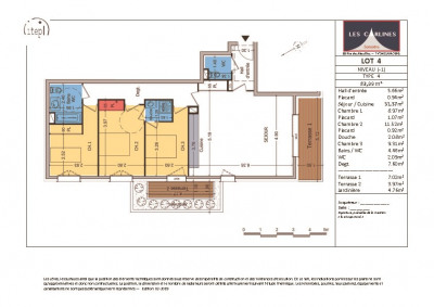 NEUF: Samoëns Centre- Appartement 4 pièces de 84 m²
