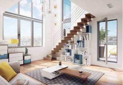 Saint OUEN: Duplex 5 pièces dernier étage, terrasse, parking