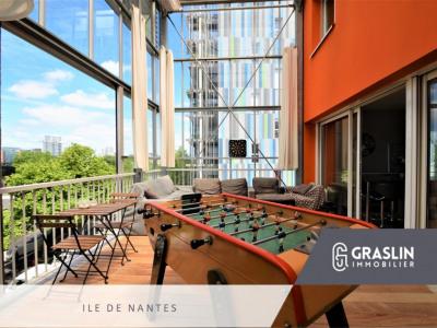T4 duplex avec parking et jardin d'hiver quartier île de nantes
