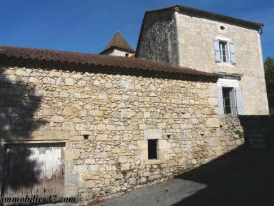 Maison de village en pierre cours - 4 pièces - 60 m²